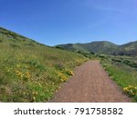 trail running and hiking paths... | Shutterstock . vector #791758582