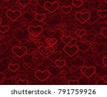hearts for valentine's day... | Shutterstock .eps vector #791759926