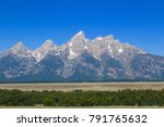 the grand teton mountain range | Shutterstock . vector #791765632