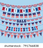 presidents day bunting vector... | Shutterstock .eps vector #791766838