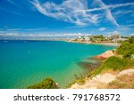 clear sky over sea. summer... | Shutterstock . vector #791768572