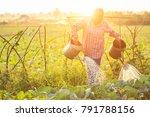 local thai farmer or gardener... | Shutterstock . vector #791788156