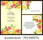 vintage delicate invitation... | Shutterstock .eps vector #791789575
