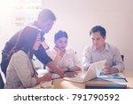 business people meeting design... | Shutterstock . vector #791790592