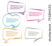 set of bubble speech quote box... | Shutterstock .eps vector #791804152
