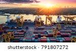 logistics and transportation of ... | Shutterstock . vector #791807272