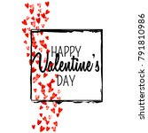 valentines day card with red... | Shutterstock .eps vector #791810986