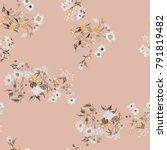 flower seamless pattern. field... | Shutterstock .eps vector #791819482