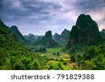 epic view to karst formation...   Shutterstock . vector #791829388