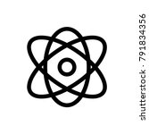 atom icon vector | Shutterstock .eps vector #791834356