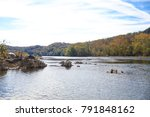 a view of the potomac river... | Shutterstock . vector #791848162