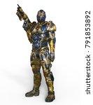3d cg rendering of a robot | Shutterstock . vector #791853892
