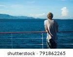 man at cruise ship | Shutterstock . vector #791862265