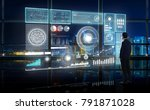 smart financial analytics... | Shutterstock . vector #791871028