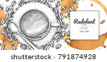 coffee illustration with coffee ... | Shutterstock .eps vector #791874928