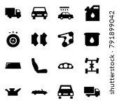 origami style icon set   car... | Shutterstock .eps vector #791899042