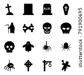 origami style icon set   grave...   Shutterstock .eps vector #791900695