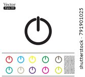 on off switch   vector icon | Shutterstock .eps vector #791901025