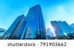 urban glass bound building group | Shutterstock . vector #791903662