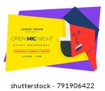 open mic night template for... | Shutterstock .eps vector #791906422