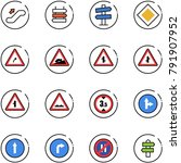 line vector icon set  ... | Shutterstock .eps vector #791907952