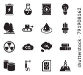 solid black vector icon set  ... | Shutterstock .eps vector #791908162