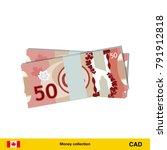 50 canadian dollar banknote.... | Shutterstock .eps vector #791912818