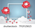 valentine's day concept.balloon ... | Shutterstock .eps vector #791915815