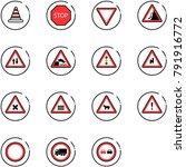 line vector icon set   road... | Shutterstock .eps vector #791916772