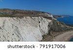 aerial photo of white cliffs...   Shutterstock . vector #791917006