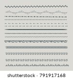 a large set of text dividers ... | Shutterstock .eps vector #791917168