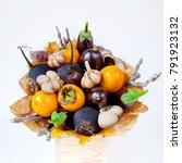 Orange And Black Fresh Fruits...
