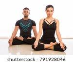 young men and women doing...   Shutterstock . vector #791928046