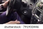 hand businessman holding car... | Shutterstock . vector #791933446