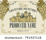 vector label for wine with a... | Shutterstock .eps vector #791937118