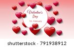 digital composite of valentine... | Shutterstock . vector #791938912