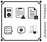 notebook ok icon vector