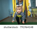 woman with child engaged in air ... | Shutterstock . vector #791964148