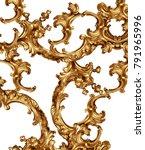 golden baroque background    Shutterstock . vector #791965996