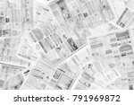 lots of old newspapers on... | Shutterstock . vector #791969872