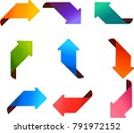 arrow set different color with... | Shutterstock .eps vector #791972152