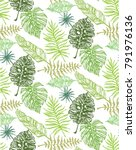 hand drawn doodle pattern with... | Shutterstock .eps vector #791976136