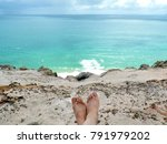 relaxing and admiring the sea... | Shutterstock . vector #791979202