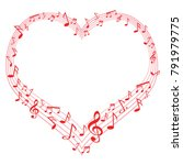 Music Of Love  Music Notes In...