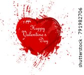 happy valentines day. grunge... | Shutterstock .eps vector #791982706