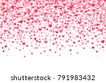 vector pink and red valentines... | Shutterstock .eps vector #791983432