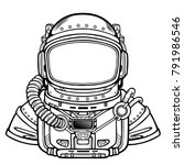 animation astronaut in a space... | Shutterstock .eps vector #791986546