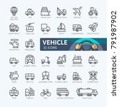 transport  vehicle and delivery ... | Shutterstock .eps vector #791987902