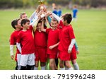 kids soccer football   young... | Shutterstock . vector #791996248