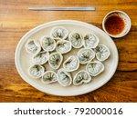 dumplings   mandu is the most... | Shutterstock . vector #792000016